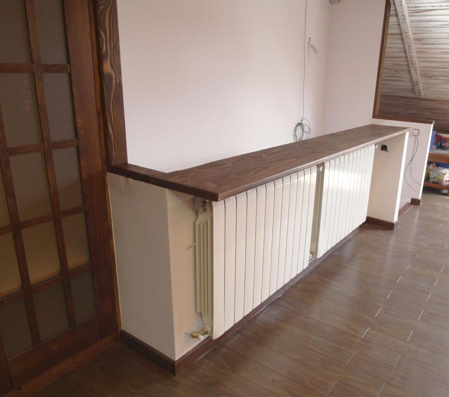Friso de madera blanco latest pared madera horizontal - Friso de pino barnizado ...